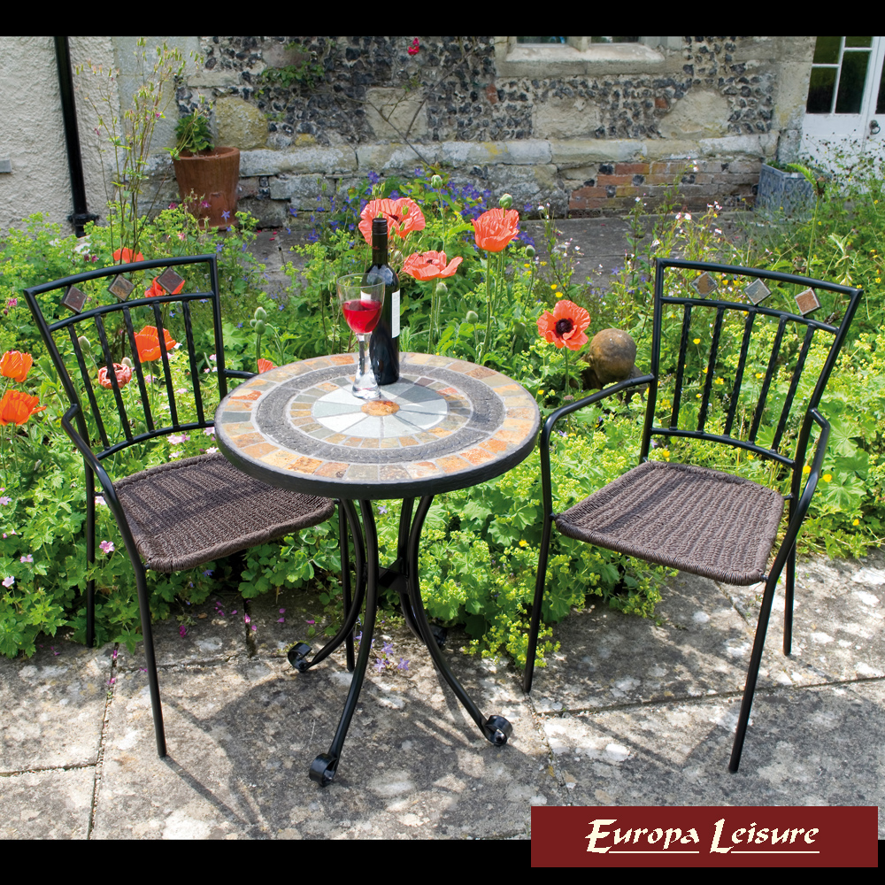 Europa leisure villena bistro table with 2 malaga chairs - Furniture malaga ...